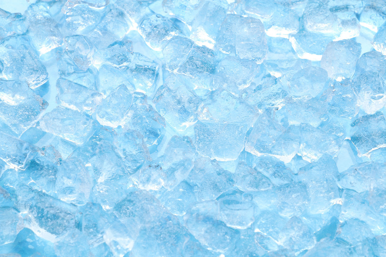 blue, backgrounds, full frame, ice cube, abstract, no people, frozen, studio shot, textured, cold temperature, close-up, crystal, indoors, ice, cube shape, mineral, nature, extreme close-up, refreshment, blue background, abstract backgrounds, clean, purity, frozen water
