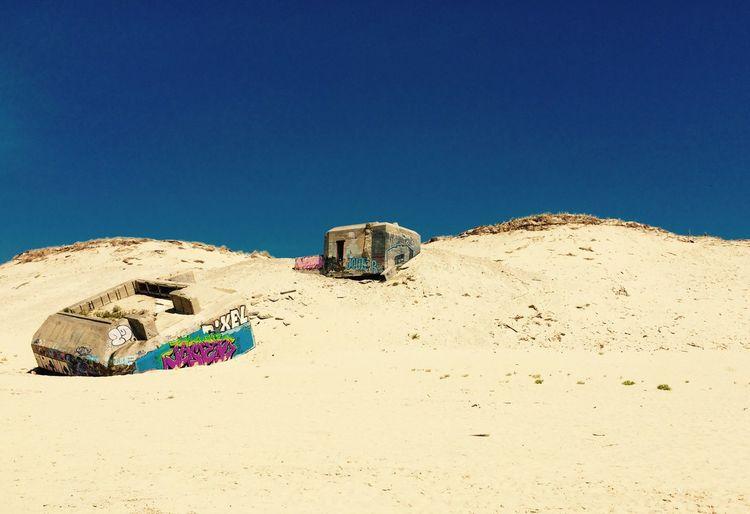 Les dunes... Sand Clear Sky Abandoned Blue No People Outdoors Cap-Ferret Blokhaus Beach