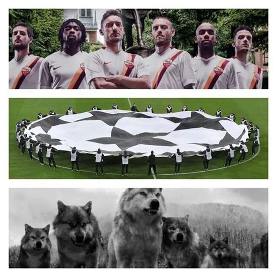 Tonight @officialasroma will make their comeback to Championsleague :D The wolves are very hungry for the glory ;) Hungryforglory Asroma Forzaroma TheWolves