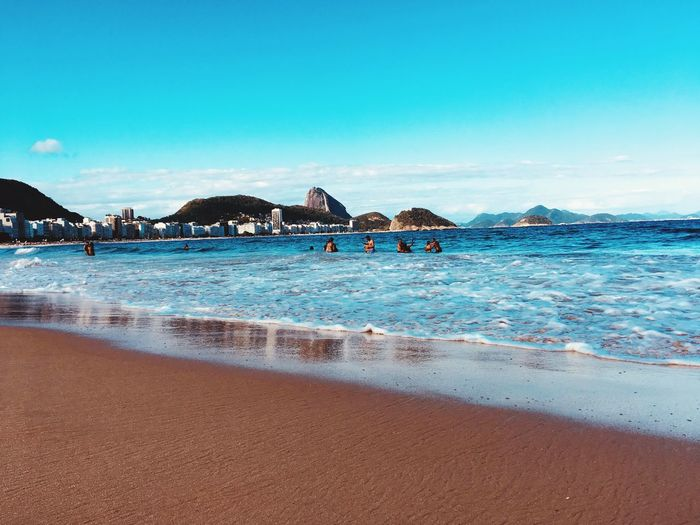 In Rio de Janeiro Rio De Janeiro, Brazil Rio De Janeiro Eyeem Fotos Collection⛵ EyeEm Selects Water Land Beach Sky Sea A New Beginning Nature Beauty In Nature Blue Sand Scenics - Nature Vacations Holiday Tranquility Architecture Incidental People Tranquil Scene
