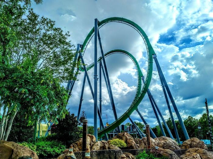 The hulk island of adventure Orlando USA Island Of Adventure Roller Coaster Sun Heat Theme Park Green The Hulk Track Sky Clouds Curves Structure Rollercoaster No People Amusement Park Steel The Week On EyeEm Been There. Summer Exploratorium The Architect - 2018 EyeEm Awards My Best Travel Photo
