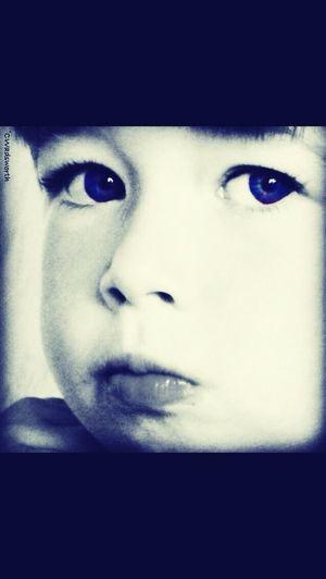 looking at camera