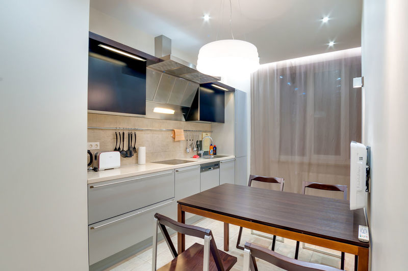 Home Domestic Room Indoors  Modern Home Interior Lighting Equipment Kitchen Luxury Domestic Kitchen Home Showcase Interior Wealth Household Equipment Illuminated Furniture No People Architecture Seat Domestic Life Pendant Light Appliance Cabinet Electric Lamp Light