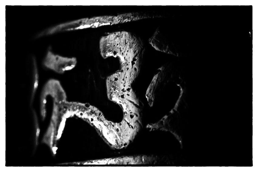 Ring, Om, black Studio Shot Close-up Black Background Pattern