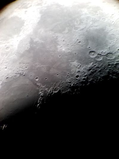 Close up of the Moons Surface through my telescope Miles Away Nature Sky Macro Close-up Moon Astronomy Astrophotography Stars Space Universe Outerspace Moon Surface Telescope Telescope View