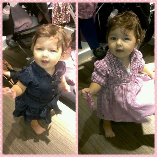 My beautiful B trying out some outfits for her Birthday Party next week !!! :) Supercute Babyb  Hermosa Cutie