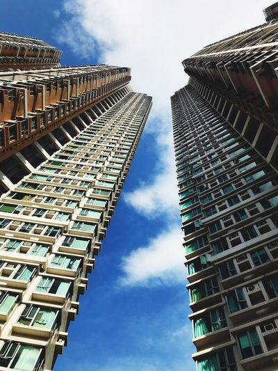 IPhoneography City Life High Buildings Architecture Built Structure Building Exterior Low Angle View Sky Day Modern Outdoors Cloud - Sky No People