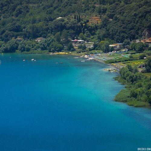 Spotted our new kayak destination. Lagoalbano Castelgandolfo Castelliromani  Lake Rome Italy nature