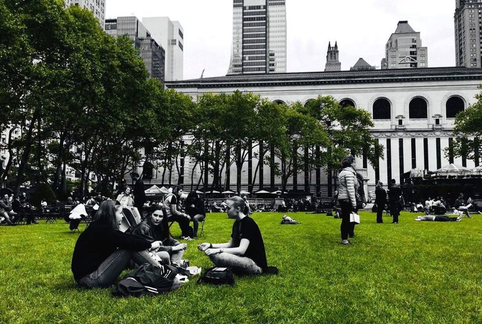 Environmental Conservation Environment Bryant Park  New York City Built Structure Building Exterior Architecture Plant Building Nature Tree Day City Grass Travel Destinations Green Color Growth Real People Tourism Lawn Tower Park Outdoors Office Building Exterior