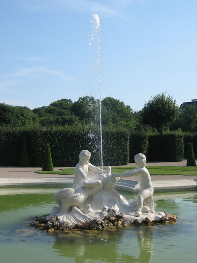 Photos of Vienna, Austria 2007 Blue Sky Jet Sunny Travel Destinations Water Water Fountain Water Jet White Color
