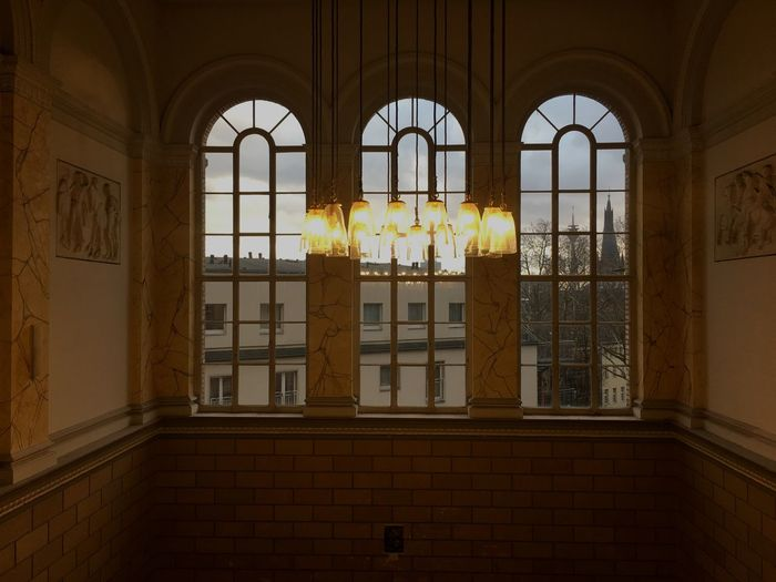 Kunstakademie Düsseldorf Architecture Built Structure Window Building Arch Indoors  No People Glass - Material