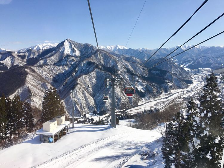 Galayuzawa Snow Winter Cold Temperature Mountain Cable Nature Weather Day Landscape Beauty In Nature Outdoors No People Mountain Range