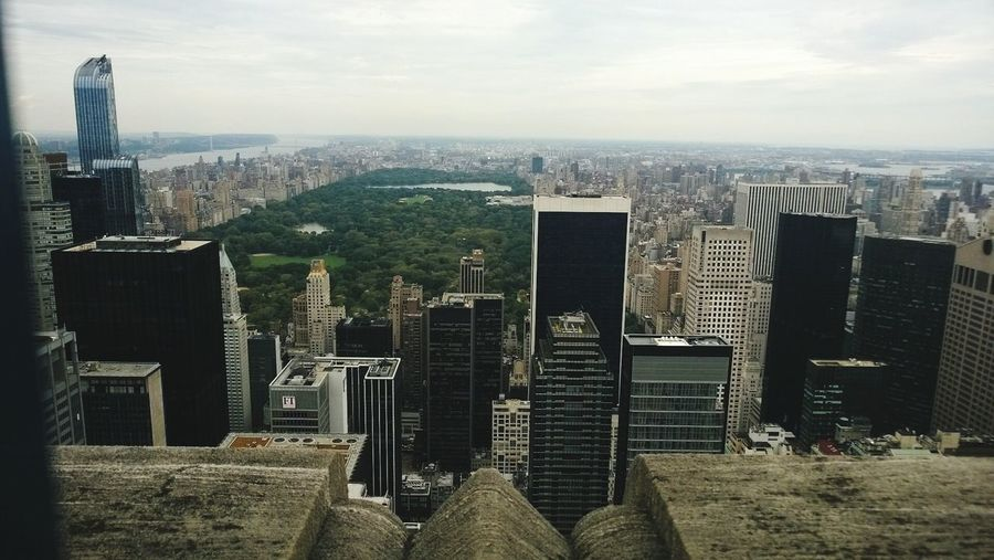 High Angle View Of Central Park In Manhattan Seen From Rockefeller Center