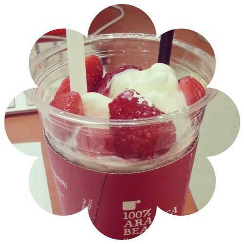 Ice Cream Strawberry Yogurt