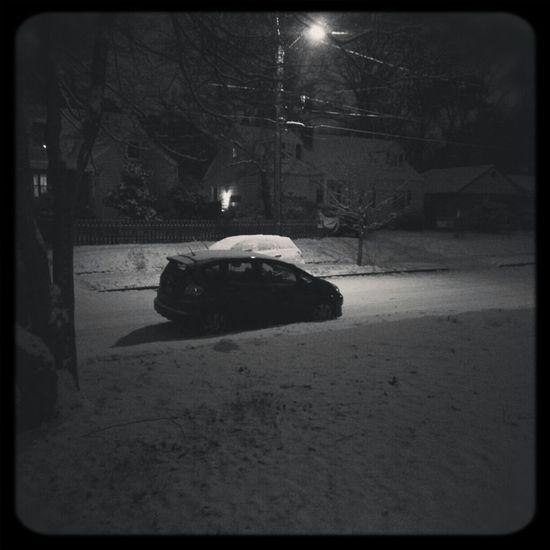 Night Snow Norfolk Honda Fit