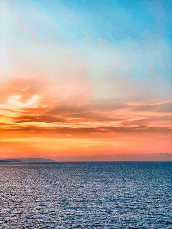 """""""Colors"""" Eye Em Select Vibes Black Sunset Working Sunset Sky Orange Color Cloud - Sky Scenics - Nature Beauty In Nature No People Tranquil Scene Tranquility Nature Romantic Sky Backgrounds Idyllic Full Frame Water Sea Pattern Land Outdoors"""