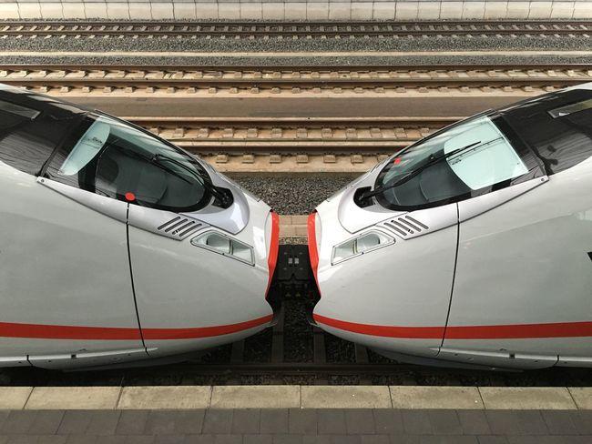 Stuck together! ICE Train