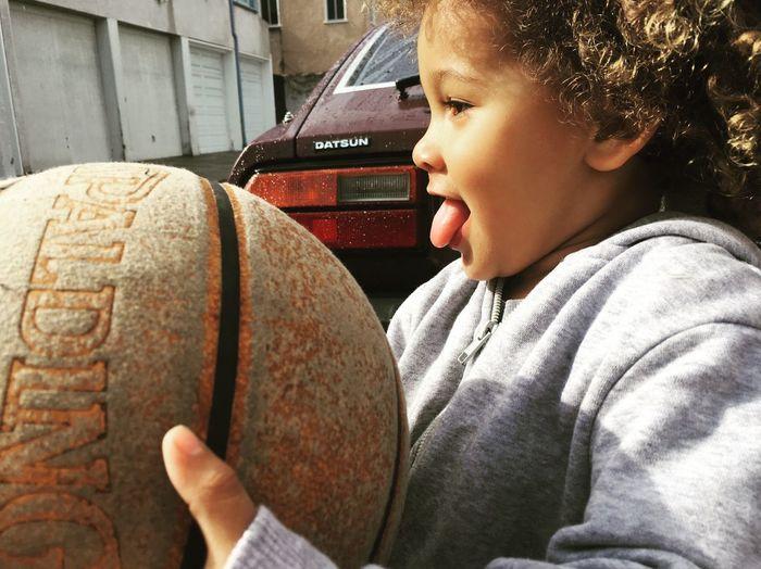 Julien My Son Rain Familytreasure Z Datsun 280z Datsun 1980Z Basketball Spaldingball Real People Boys Childhood One Person Leisure Activity Lifestyles Headshot
