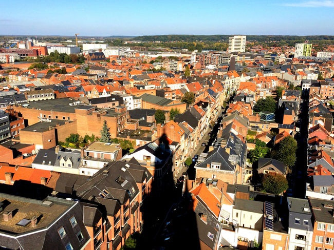 Architecture Belgium Birdview Cityscape High Angle View Leuven Library Overview Tower
