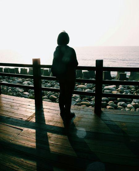 Walking Around Seaside Travel Railtravel Landscape_photography Self Sihouette  散策 Countryside