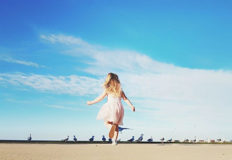 Sand Beach Sky Outdoors Summer One Person Day Motion Full Length Innocence Portrait Cute Toddler  Little Girl Childhood EyeEmNewHere The Street Photographer - 2017 EyeEm Awards