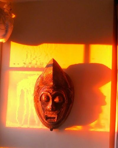 Sunrise Cornwall Mask Orange Window October