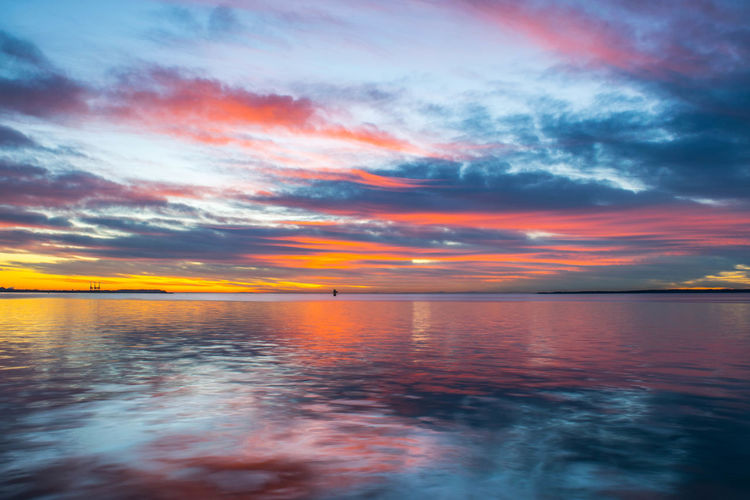 Beauty In Nature Cloud - Sky Day Nature No People Outdoors Reflection Scenics Sea Sky Sunrise Tranquil Scene Water