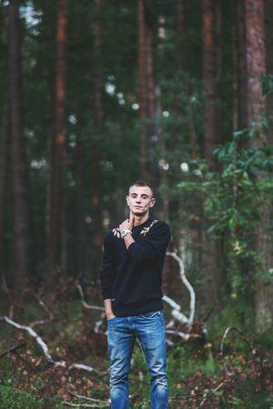 135mm Old Lens Boy Check This Out Forest Portrait Of A Friend M42 Canon 6D Bokeh Bokeh Love