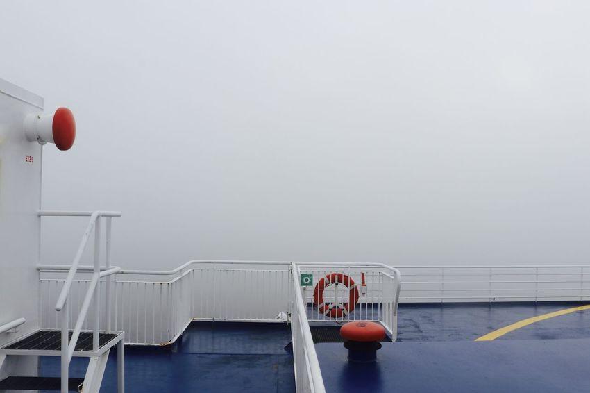 EyeEmNewHere Deck Of Ship Dense Fog Ferry Fog Horn Foggy Day No People Poor Visibility Railing