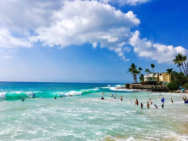 Magic Sands Surfing Blue Blue Wave Bodysurfing Sky Sea Water Cloud - Sky Nature Beauty In Nature Beach Horizon Over Water Outdoors Vacations Leisure Activity