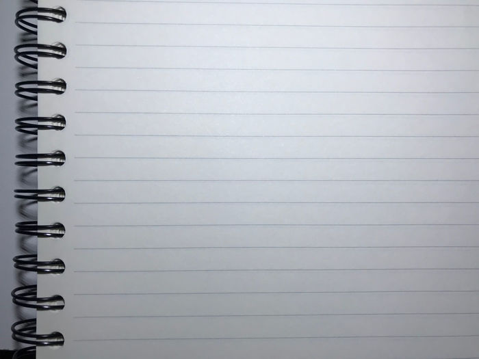 Close-up of lined paper