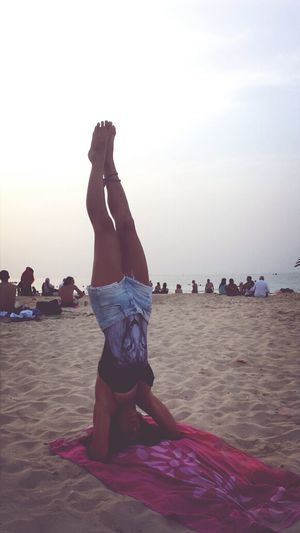 Upside Down Yoga From Where I Headstand Beach