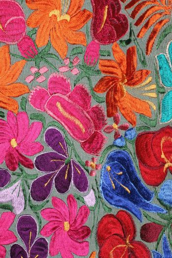 Textileart Embroiderydesign Colorful Flowers Colorfultextiles Close‐up Photography Textures And Patterns Multi Colored Backgrounds Full Frame Textured  Pattern Abstract Close-up