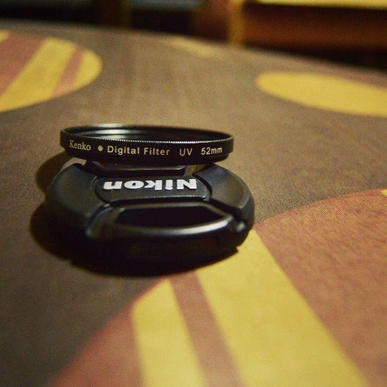 Lens cap and lens filter Kenko Lensfilter Lenscap Nikon Iamnikon 52mm
