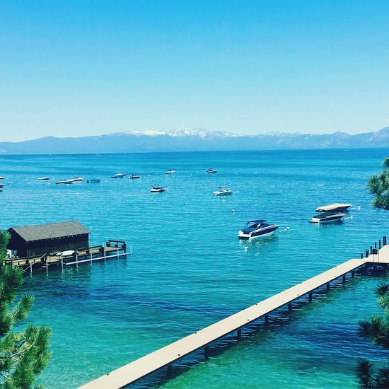 Lake Tahoe Water Clear Sky Blue Tranquility Mountain Beauty In Nature Sky First Eyeem Photo