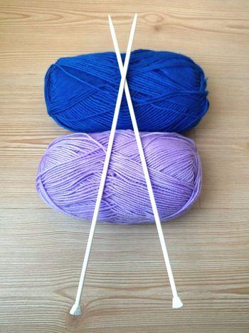 Showing Imperfection Blue Purple Colors Colours Braid Plaid Bulge Simple Pure Basic Minimal Object