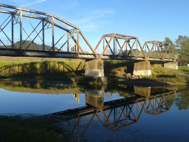 Railroad Bridge at Memorial Beach in Healdsburg, Ca. Bridge Railroad Tracks Railroadphotography Railroad Bridge Water Reflections Waterreflections  Scenic River View Sonoma County Healdsburg Aging Graffiti Industrial Landscapes Transportation Railroad Train Tracks Train Bridge History Architecture Rustic