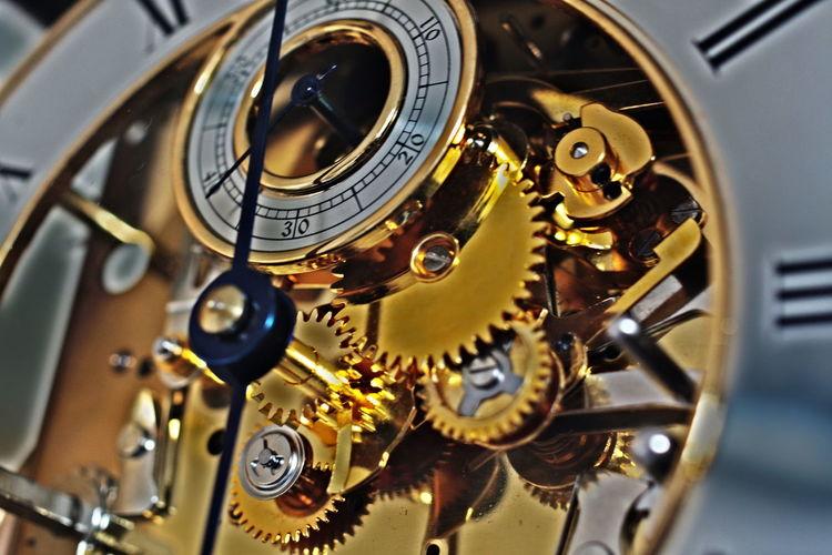 Close-Up Of Clock Machinery