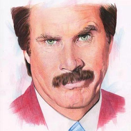 Check This Out Amazing Art Art Portrait Ronburgundy Anchorman colour pencil portrait