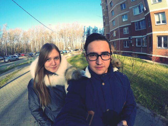 Гуляли❤️ селфи друзья Россия Russia Selfie ✌ Streetphotography улица Москва Moscow Friends друзья😚