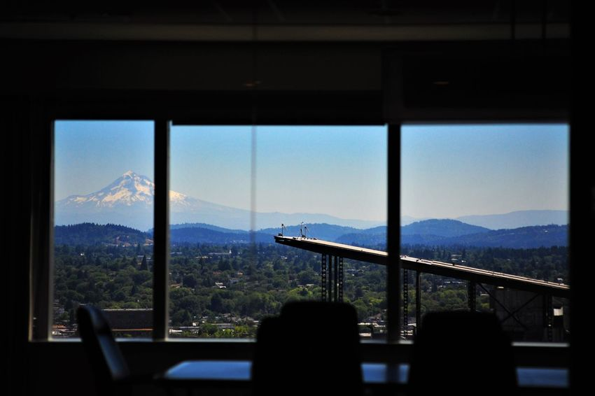 BoardRoom Architecture Beauty In Nature Cityscape Day Indoors  Landscape Mountain Mountain Range Nature No People Scenics Sky Tree Window Breathing Space