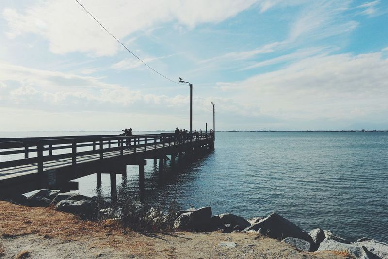 Water Sea Pier Sky Nature Outdoors Boardwalk Beach Family Vacation
