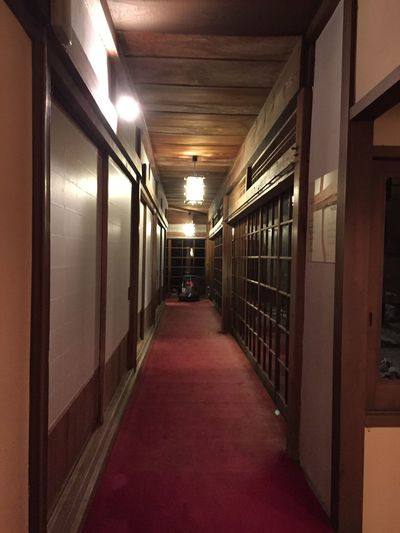 廊下 Historical Building Japanese Style Corridor Hotel Ryokan Yoshino Japan
