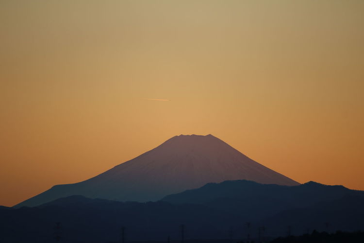 Mt.Fuji_collection Mtfuji Mt.Fuji Sunset Silhouette 元旦夕暮れの富士山のシルエット