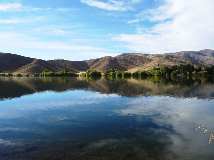 Reflection Water Nature Sky Beauty In Nature Lake Scenics Mountain Waterfront Standing Water Tranquility Tranquil Scene Outdoors Day No People Landscape Water Reflections Mirror Lake Symmetry New Zealand