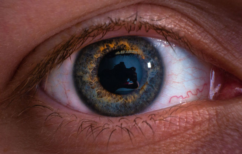 Extreme close-up portrait of human eye