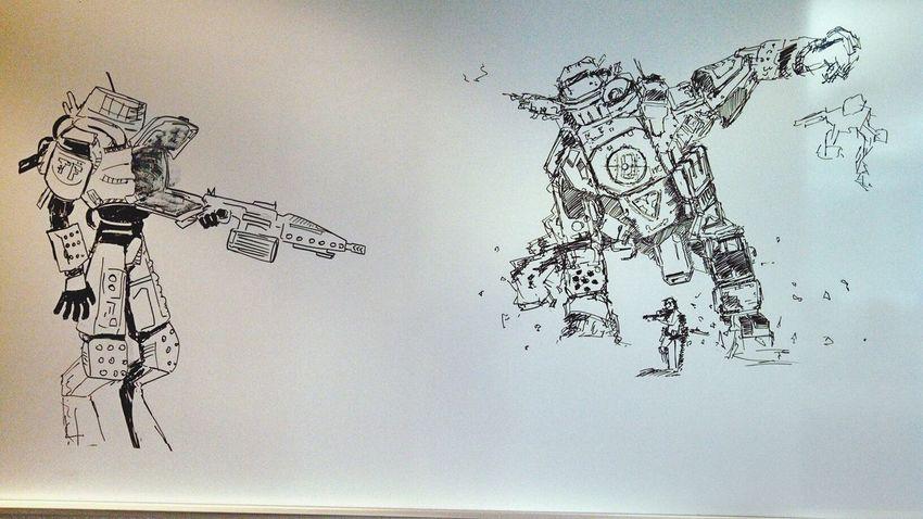 Arvin's art Robot Drawing Art