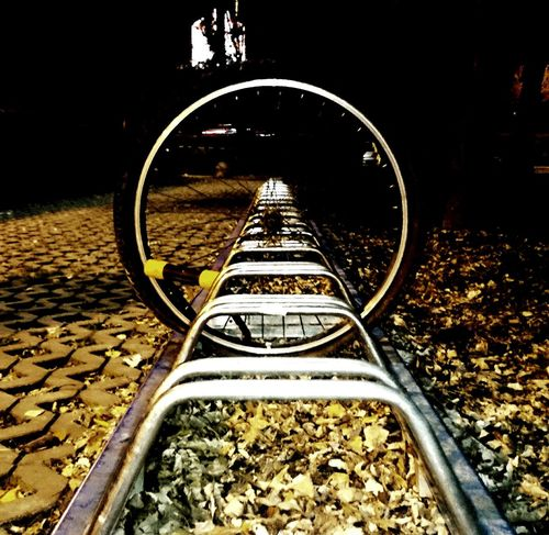When the wheel stops turning... (01st December 2015) Bicycle Wheel Stolenbike Lock Sadness Citylife Night Leftbehind Remains Croatia Walking Around The City  Left Alone Things I'm Thankful For One Photo Every Day My World December 2015 Cellphone Photography