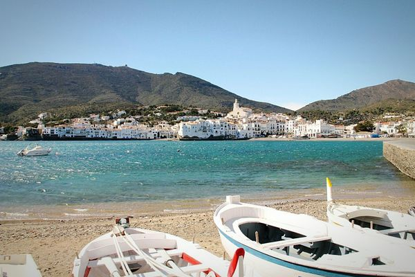 Sea Boat Boats SPAIN Spain2015 Cadaqués Seaside Beach Panorama Panoramic Photography Water Spagna Barche Barça Mare Spiaggia Sun Sole