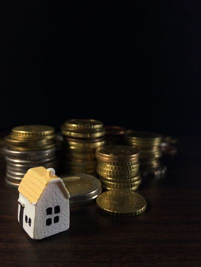 Behind the scene Income Household Goal Dream Family Loan  Mortgage Investment Reverse House Home Finance Coin Wealth Currency Savings Investment Stack